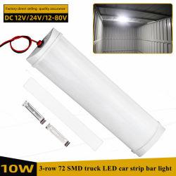 تيار مستمر 12 فولت/24 فولت 72 SMD10W مع هيكل من الألومنيوم U + كريستال مصباح LED الغطاء في شريط السيارة