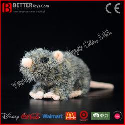 En71 실물 크기의 동물 봉제 쥐 부드러운 장난감 생쥐