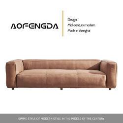 Omlaag leren bank Hoofdlaag Cowhide Italiaanse stijl lichte luxe Lederen Art Super Soft Sofa moderne eenvoudige woonkamer combinatie