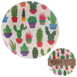 創造的なタケファイバーの版のホーム北欧の皿の版の円形の食事の版の居間のティーカップ水コップの皿のバーベキューの版