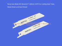 """Hoja de sierra oscilante Bimetal M2 4"""" 100mm, 24tpi para cortar el tubo de acero, láminas de metal y madera dura,oscilantes,Power Tools"""