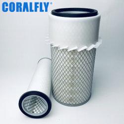 Coralfly Filtro de aire del motor Diesel 2MD455AP2 Colocar Commins Filtro de Mack