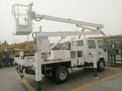 Camion funzionante ambientale -12m della piattaforma di lavoro aereo della benna di Isuzu 4X2 6-Wheeler Manlifter