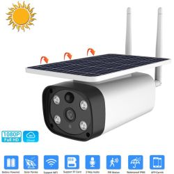 Caméra de sécurité solaire WiFi avec panneau solaire et pile rechargeable 1080p HD de la surveillance audio de détection de mouvement IRP Caméra de vidéosurveillance