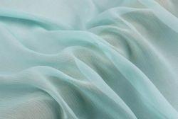 100 Tecidos de seda pura Crepon Têxteis anilha ondulada Georgette 4,5 m/m de cor azul pálido