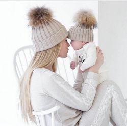 أطفال والد [فور] [بوم] حقيقيّة [نبتد] قبعة جديدة [كندي] ألوان Women's Hat's Kned Hat Warm Soft Latest Fashion قبعة أنيقة أنيقة من بياني ليدي
