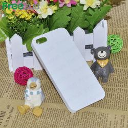 3D à finition brillante de silicium de Sublimation de cas de téléphone cellulaire pour iPhone 5