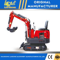 CER Bescheinigung Endstück-Schwingen-hydraulische kompakte Baggermaschinen-Mini-/kleine Exkavatoren der 1 Tonnen-Gummigleisketten-null mit Yanmar Motor
