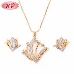 Gold Kristall Halskette 18K Frauen Schmuck Ketten-Sets