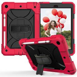 多彩なタブレットのアクセサリのユニバーサルタブレットカバーiPadのための手ストラップが付いている耐震性のタブレットの箱カバー