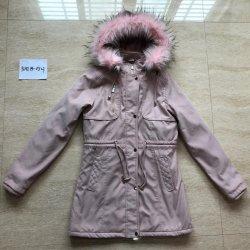 Hot vendre Nouvelle mode hiver chaud Lady Parka Coat Veste Fausse Fourrure à capuchon