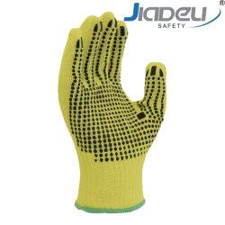 13 Индикатор Кевлара Cut-Resistant вязки пунктирной средний вес рабочие перчатки для металла с острыми предметами