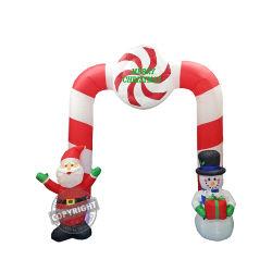 [240كمه] قابل للنفخ [سنتا] رجل ثلج قوس باب زخرفة ممرّ مقنطر عيد ميلاد المسيح إستعمال