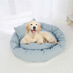 Venta caliente cómodo Tejido de lino de cama mascota perro caliente suave cama Mat Pad para perro gato