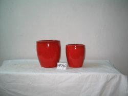 Maceta de terracota vidriada (HP746)