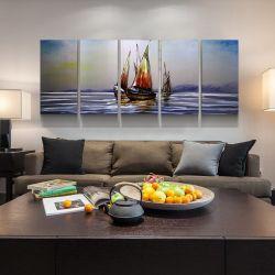 Handmade Métal 3D de l'huile Contemprory bateaux peinture Décoration de mur d'accueil Arts de l'artisanat