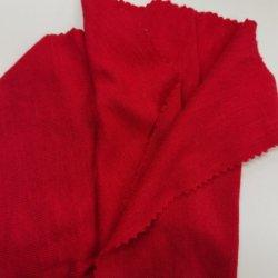2020 신규 판매 중국 공장/공급업체 고품질 모델 패션 부드러운 니트 폴리에스테르 라온 탄력성 대나무 조인트 거침 브러시 더블 Dye 패브릭