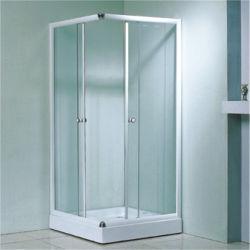 低価格の中国のスライドガラスの正方形の簡単で明確なシャワー室
