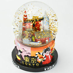 Résine personnalisé de l'artisanat de l'eau cristalline Boule à neige pour la décoration d'accueil de souvenirs