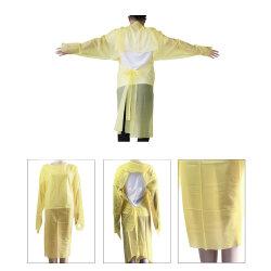 Wasserdichtes Lokalisierungs-Kleidung PETcpe-gelbe Wegwerfkleider