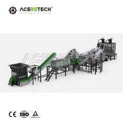 Norme CE concasseur de recyclage de déchets de plastique lavage Shredder Ligne de lavage pour les déchets de bouteilles en plastique PET flocons de polyéthylène