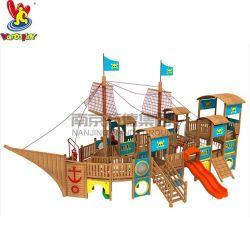 Vergnügungspark-Plättchen-Spielplatz-Geräten-Verkaufs-Spielplatz-hölzernes Seeräuber-Boot