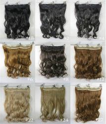 Neue Form-voller Hauptclip-lockige/wellenförmige Frauen-synthetische Haar-Extensions-verschiedene Farben