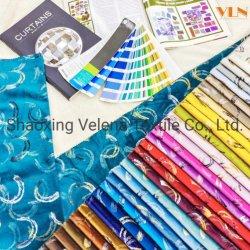 Hochwertige Plüsch Samt Färben mit geometrischem Muster bunte Folie Sofa Kissen Bedruckte Polstermöbel Bonded Stoff