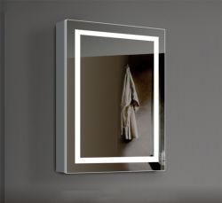 O mobiliário moderno Home a banda decorativa Alumínio iluminado LED montados na parede de PVC MDF armário de banheiro vaidade LED espelho retrovisor superior do armário de remédios