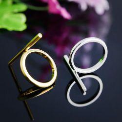 流行の人および女性の宝石類の付属品の長いリング