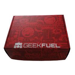 빨간색 색상 오프셋 사용자 정의 인쇄된 골판지 포장 상자