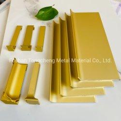 Tongcheng Alumínio de alta qualidade da placa de rodapé com cor de ouro