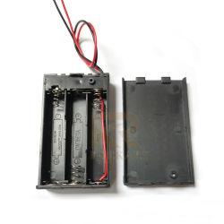 El plástico 3 x AAA batería de 4,5V Titular de la Caja Estuche con la tapa del interruptor