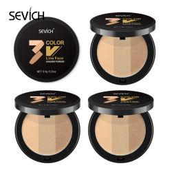 Polvere naturale fine cosmetica di riparazione del Brown scuro di 3 colori del contrassegno privato
