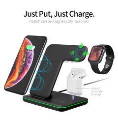 3 in 1 drahtloser Aufladeeinheit für Apple iPhone Iwatch Airpods