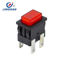 Один/Двухполюсный кратковременное нажатие/включения выключения светится прямоугольные кнопочный выключатель на заводе, Китай