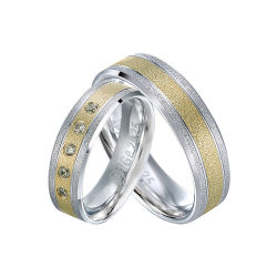 エメリーFinish Fashion MenおよびWomen Couple Stainless Steel Jewelry Finger Ring