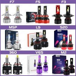 Lmusonu F7 F5 F3 F2 M5p M3 L9 360 M2 G20 C6 K5 Mini S1 S2 LED 차량용 헤드라이트 3개 최고 품질의 자동 조명 9-36V CANbus CSP LED 차량용 램프 24000lm