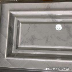 Интерьер оформлен полимера полированной панели белого цвета специалисты Alabaster настенной панели