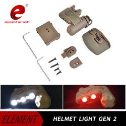 Element Aisorft Helmet Flash Light Gen 2 Rood Wit LED IR-set Tactical Softair Weapon Gen II Helmet Light G2 Ex029