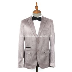 Groothandel Custom made Youth Fashion 100% Polyester Grey Velvet men′ S-jack