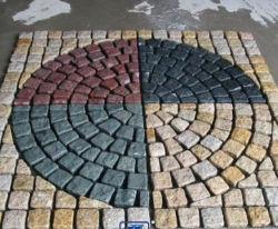 Project Granite/Marble/Basalt/Slate/텀블드/Samsone/Portphyr/Granite Stone 포장/Cube Stone