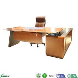 Mobiliário de escritório moderno folheado de MDF folheado de brilhante de madeira sólida Gerente Executivo de madeira de turismo