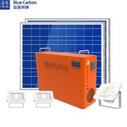 青いカーボン高い発電のホームSolar Energy記憶のパワー系統は家へ帰る