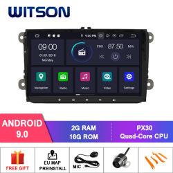 Четырехъядерные процессоры Witson Android 9.0 для Volkswagen/Alhambra/Altea/Exeo/Caddy/Cupra/поле для гольфа 5(MK5)/Гольф 6/Леон/Jetta/Polo/Passat B6/Passat CC/SC CAPACTIVE 1024*600