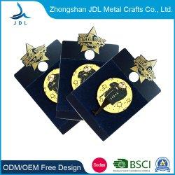 Recuerdos de metal mayorista cordón para el evento fábrica de aluminio no hay pedido mínimo insignia de solapa la impresión de papel (447)