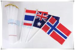 Оптовая торговля деревянный столб стороны флаг с Custom Print логотип вашей компании