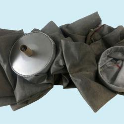 섬유유리 털실 짠것이 아닌 산업 직물 필터 소매 부대