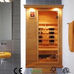 Un Sauna sec Salle rendu de la pruche avec chauffage en céramique pour 1 personnes