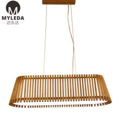 Интерьер бамбук цвет лампы пульта управления Lampshade люстра